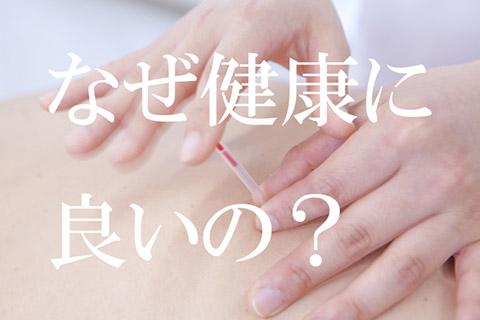 体に「鍼」を刺すのは痛そうだけど、どうして健康に良いの?