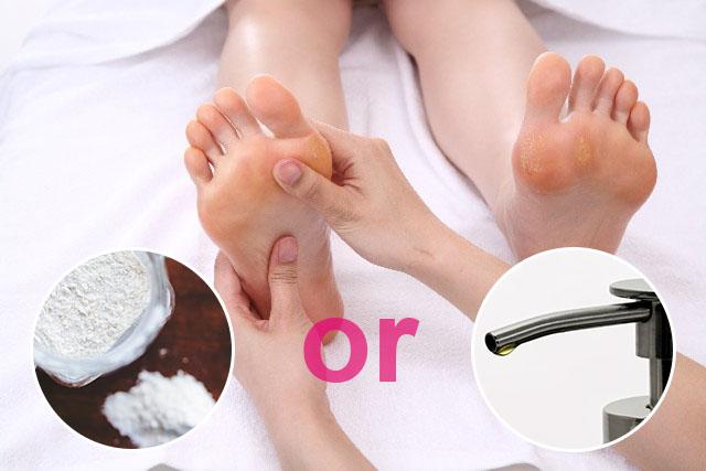 足裏のリフレクソロジーには、パウダーやオイルは使うべき?