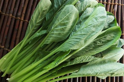 アルカリ性の小松菜