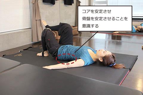 姿勢改善のピラティスの方法2