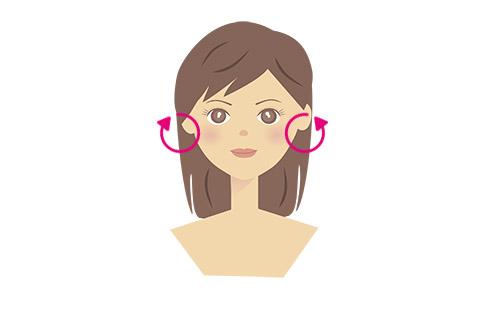 耳たぶ回しの方法 1