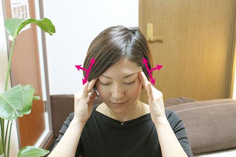 顔のストレッチの方法1