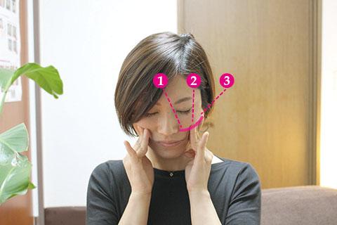 顔のストレッチの方法2