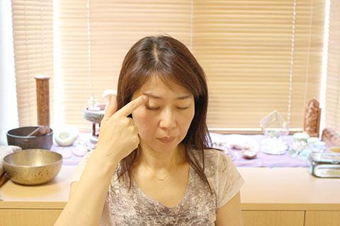 ぱっちり目を大きくする方法2. リンパの手順2