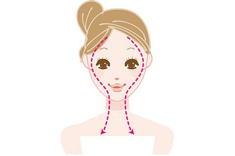 頬骨を引っ込める方法 顔のマッサージ