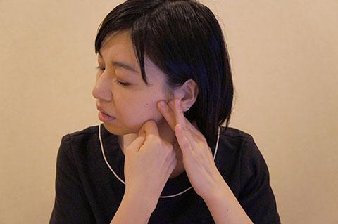 咬筋をほぐすニーディングの方法(第2段階)