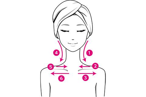 顔筋マッサージの方法1