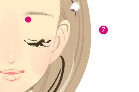小顔リンパマッサージのやり方7.