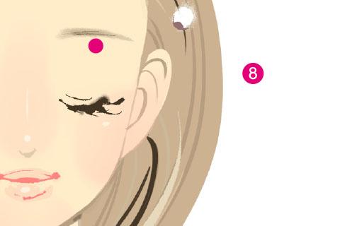 小顔リンパマッサージのやり方8.
