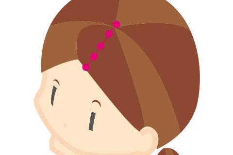 頭のマッサージの方法1.