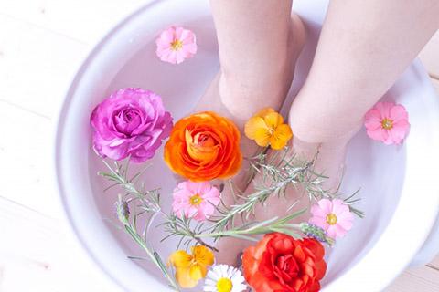 自宅で足湯を行う方法