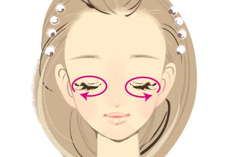 顔の筋肉をほぐす小顔マッサージ3.